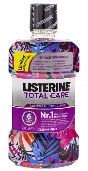 3 x Listerine Total Care tägliche Mundspülung Clean Mint je 500ml