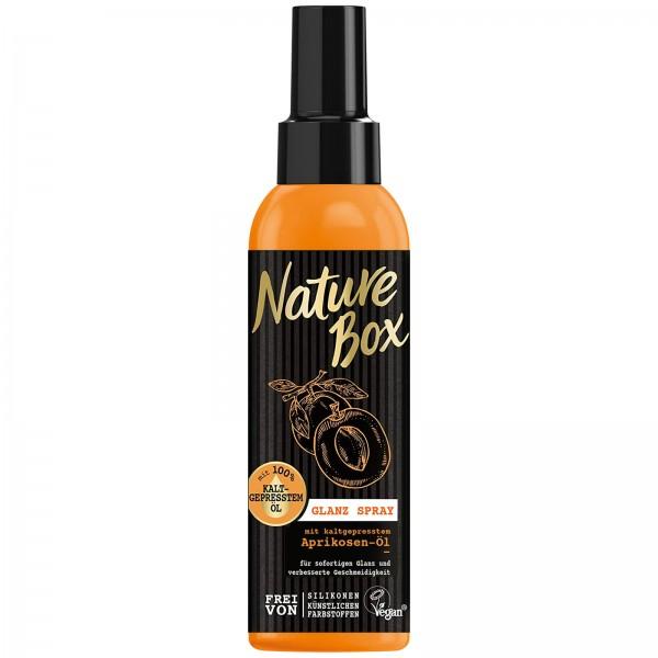 3x Nature Box Glanz Spray mit 100% Aprikosen-Öl je 150ml