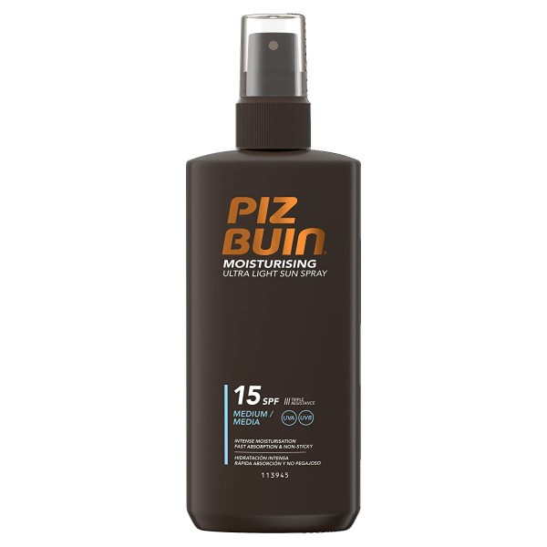 2x Piz Buin Moisturising Ultra Light Sun Spray LSF15 Sonnenspray je 200ml