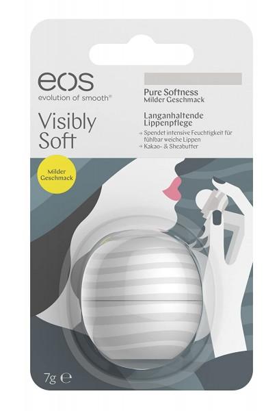 eos Visibly Soft Pure Softness Lip Balm für trockene Lippen 7g