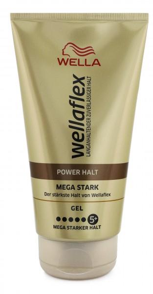 6 x Wella Wellaflex Power Halt Gel Mega Starker Halt je 150ml Stärke 5+