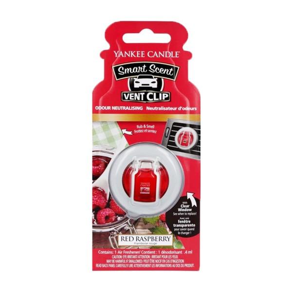 3 x Yankee Candle Smart Scent Vent Clip Red Raspberry Auto-Lufterfrischer je 4ml