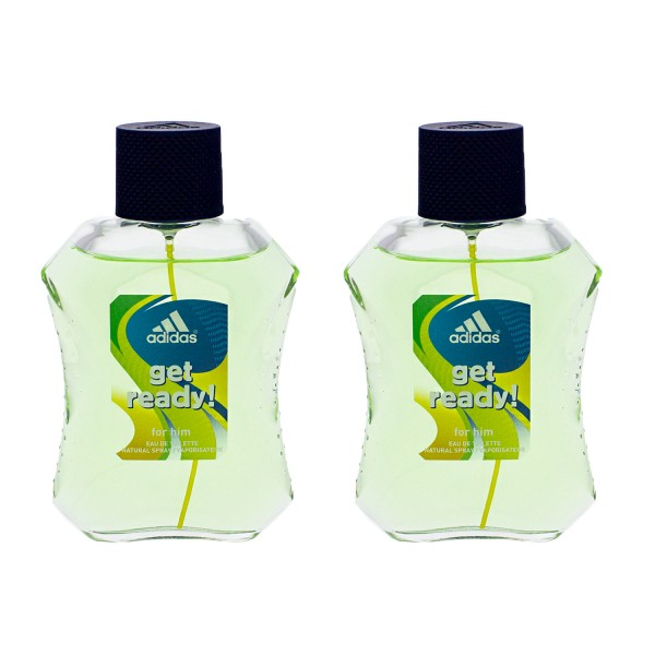 3 x Adidas get ready! EDT for him je 100 ml Eau De Toilette