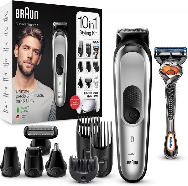 Braun Multi Grooming Kit MGK 7220 10inn1 Trimmer inkl. Gillette Fusion 5 Rasierer B Ware