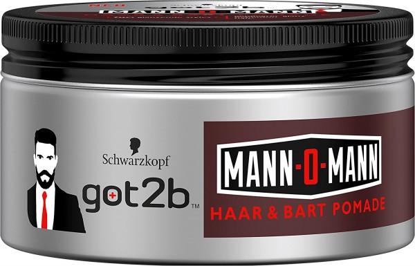 3x Schwarzkopf got2b Mann-O-Mann Haar & Bart Pomade je 100ml