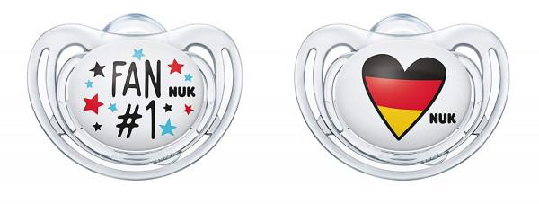 2x NUK je 2er Pack Freestyle Fußball-Edition Schnuller 18-36 Monate