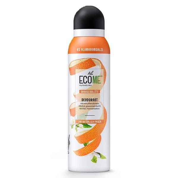 ECOME Deo Spray Orangenblüte 150ml 0% Aluminiumsalze Vegan für empfindliche Haut