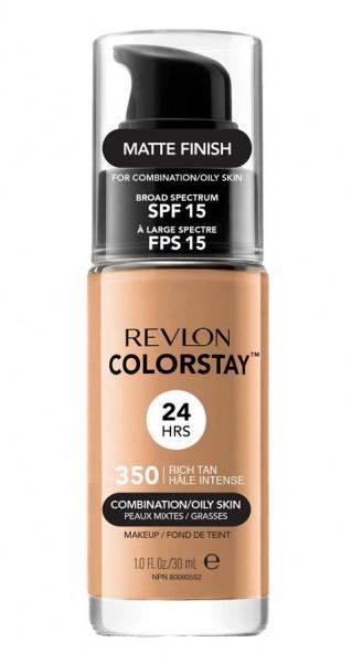 2 x Revlon ColorStay Rich Tan 350 MakeUp je 30ml Mattes Finish