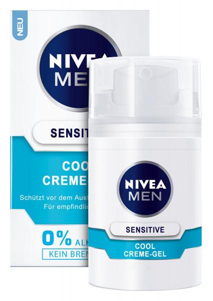 3x Nivea Men Sensitive Cool Creme-Gel für das Gesicht je 50ml