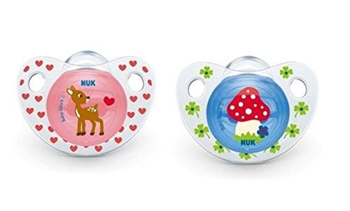 NUK Baby-Glück 2er Pack Schnuller 6-18m blau und pink BPA frei