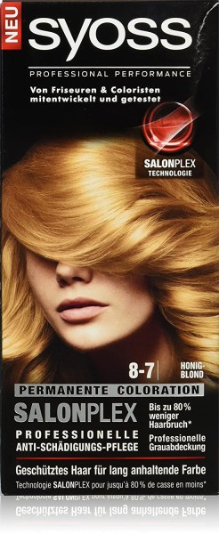 Syoss Salonplex Permanente Coloration 8-7 Honigblond 115ml
