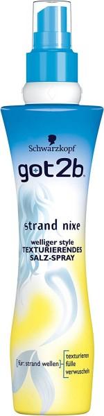 3x got2b strand nixe Texturierendes Salz Spray Strand Wellen je 200ml