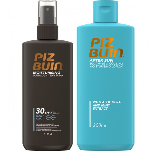 Piz Buin Moisturising Sun Spray 200ml & Piz Buin Moisturising After Sun Lotion 200ml