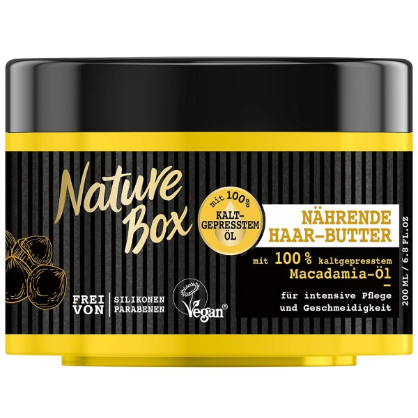Nature Box Macadamia-Öl Nährende Haar-Butter 200ml intensive Pflege