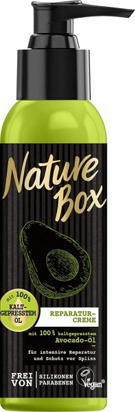 Nature Box Avocado-Öl Shampoo 385ml, Reparatur-Creme 150ml & Festes Shampoo 85g