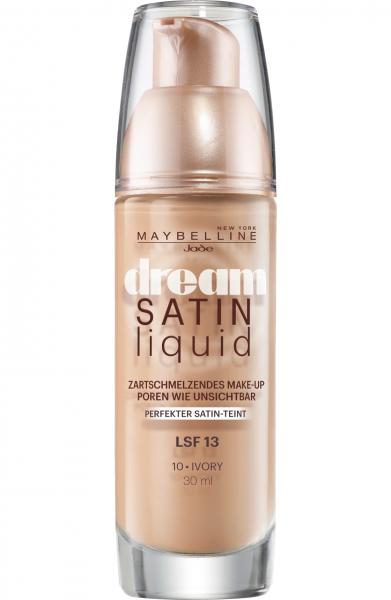 2x Maybelline Dream Satin Liquid Foundation 10 Ivory je 30ml