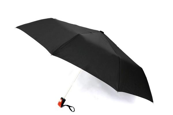 Susino Teleskop-Taschenschirm Regenschirm schwarz