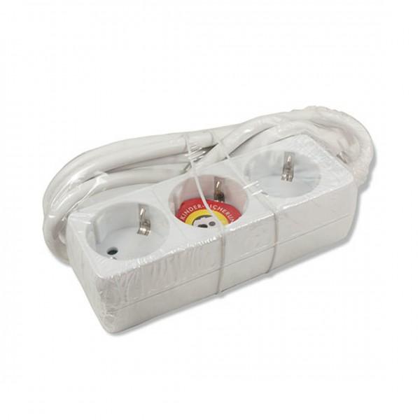 3 ARCAS 3-fach Steckdosenleisten jeweils mit1,5 m Kabel und Kindersicherung