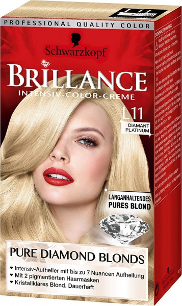 Schwarzkopf Brillance Haarfarbe L11 Diamant Blond