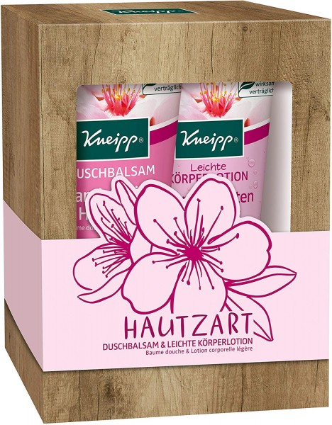 2 x Kneipp Geschenkpackung Hautzart Duschbalsam & Leichte Körperlotion je 200 ml