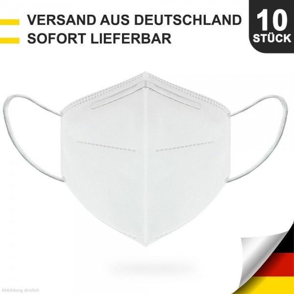 10er Pack Atemschutzmasken Community Masken Mund-Nasen-Schutz 5-lagig