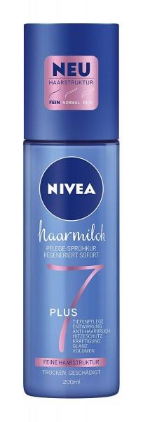 3x Nivea Pflege-Sprühkur Haarmilch je 200ml Feine Haarstruktur