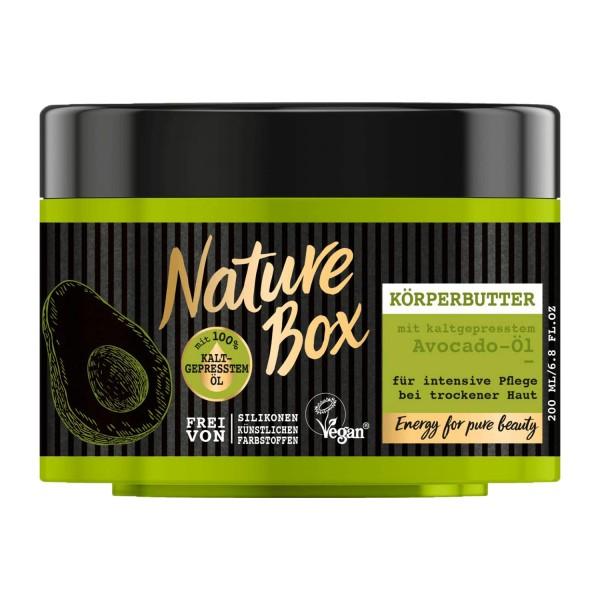 Nature Box Avocado-Öl Körperbutter 200ml Vegan
