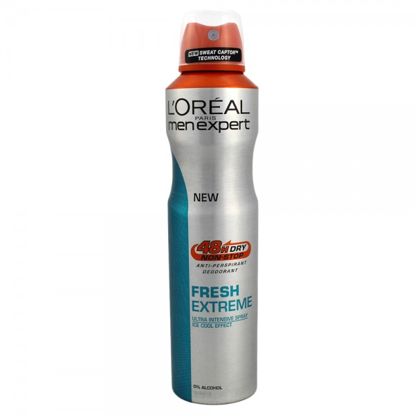 6x Loreal Men Expert Deospray Deodorant je 250 ml Fresh Extreme