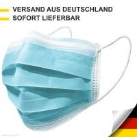100 Mund- & Nasenschutz Masken 3-lagig Schutzmaske Hautfreundlich und Hygienisch
