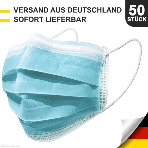 50er Pack Mund- & Nasenschutz Masken MNS 3-lagig Schutzmaske