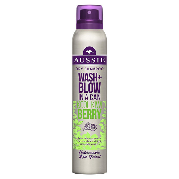 Aussie Wash & Blow In A Can Kool Kiwi Berry 180 ml Trockenshampoo