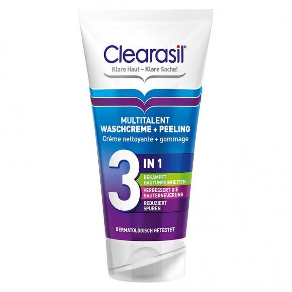 Clearasil Multitalent Waschcreme und Peeling für das Gesicht 150ml