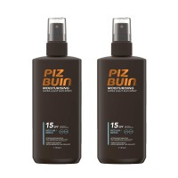 2x Piz Buin Moisturising Ultra Light Sun Spray LSF15 Sonnenspray je 200ml