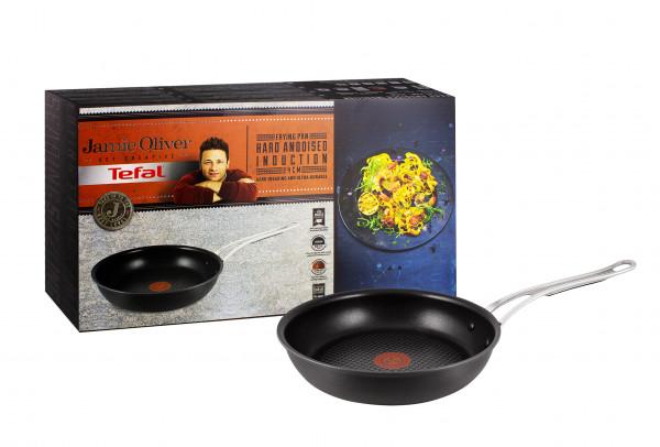 Tefal Jamie Oliver Hard Anodised Bratpfanne Schwarz 24 cm