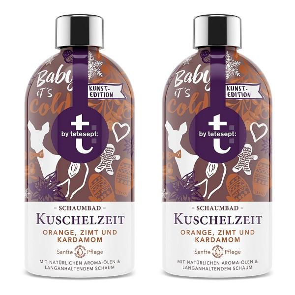 2 x Tetesept Kuschelzeit Schaumbad mit Orange Zimt und Kardamom Badezusatz je 420ml