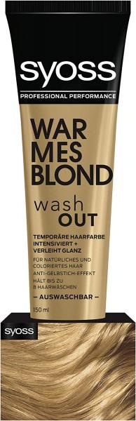 3x Syoss Hair Color Toner je 150ml Washout Warm Blonde auswaschbare Haarfarbe