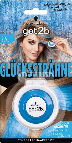 2 x got2b Glückssträhne Sky Blau Temporäre Haarkreide je 3,5g