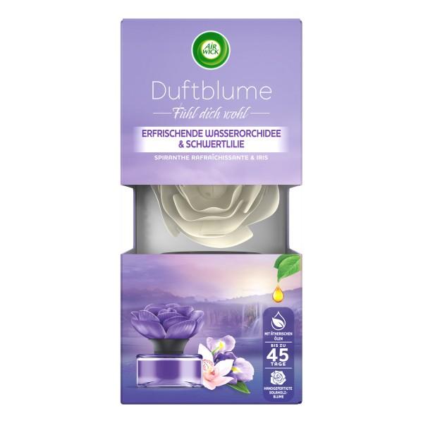 3 x Air Wick Duftblume Duft: Erfrischende Wasserorchidee & Schwertlilie