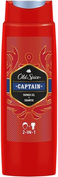 6 x Old Spice Captain 2in1 Duschgel und Shampoo für Männer je 250ml For Men