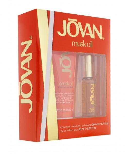 2 x Jovan Musk Oil Geschenkset für Sie EDT Spray jeweils 26ml+Duschgel 200ml