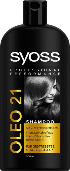 Syoss Oleo 21 Shampoo Für Gestresstes Strohiges Haar 500 ml