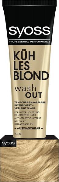 Syoss Washout Color 150ml Kühles Blond Auswaschbare Haarfarbe