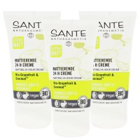 3 x SANTE Naturkosmetik Mattierende 24H Creme Gesichtscreme Bio Vegan je 50ml