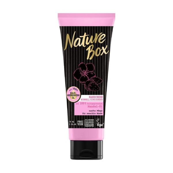3 x Nature Box Handcreme Mandel-Öl je 75 ml Pflege für die Hände