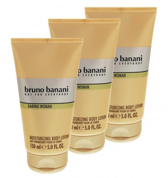 3 x Bruno Banani Daring Woman Body Lotion jeweils 150 ml