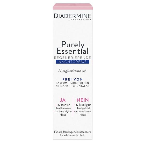 DIADERMINE Purely Essential regenerierende Nachtcreme 40ml
