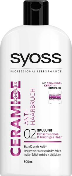 2 x Syoss Haar-Spülung Ceramide Complex Anti-Haarbruch je 500ml