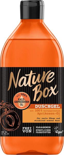 3 x Nature Box Duschgel Aprikosen-Öl je 385ml zarte Pflege für die Haut